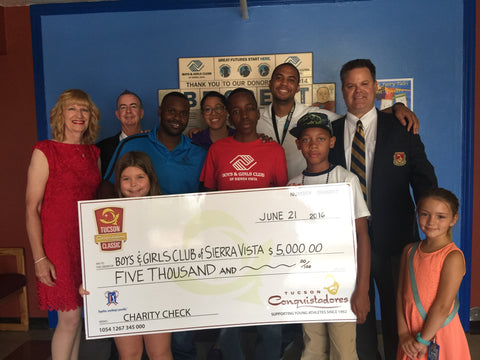 Boys & Girls Club of Sierra Vista being presented with a check