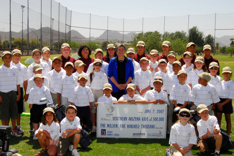 Southern Arizona kids being presented with a check