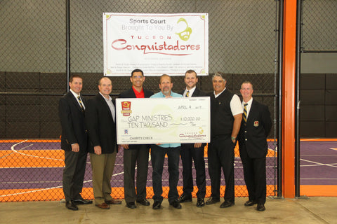 Gap Ministries being presented with a check