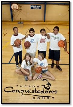 Kids on Tucson Conquistadores court