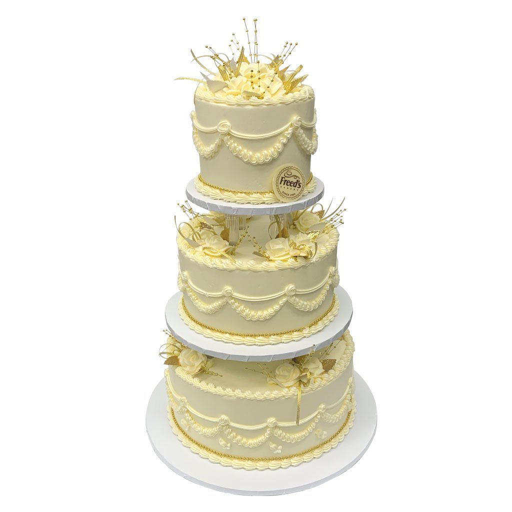 Golden Wedding Traditions Wedding Cake Wedding Cake Freed's Bakery