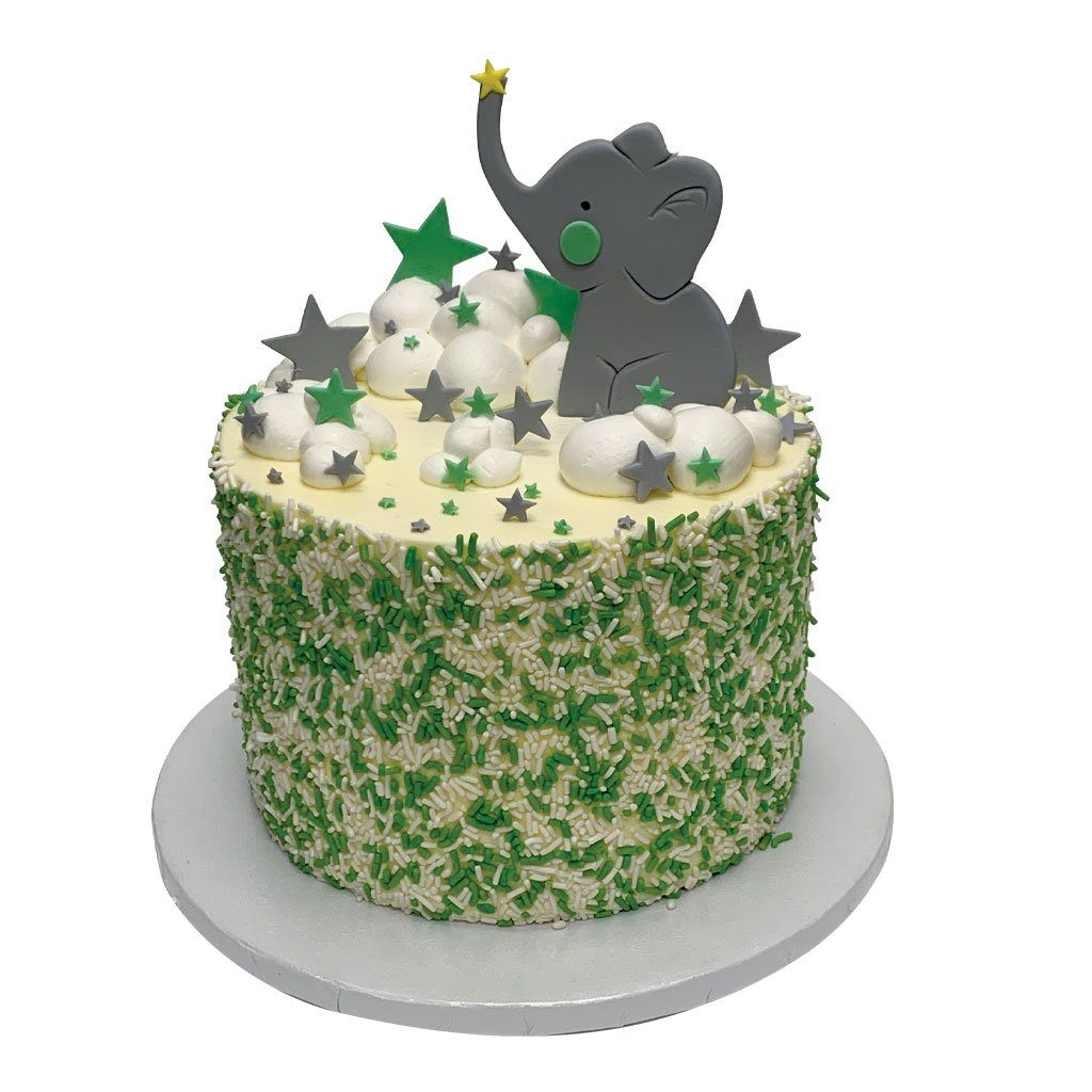Elephant Star Baby Shower Cake Theme Cake Freed's Bakery