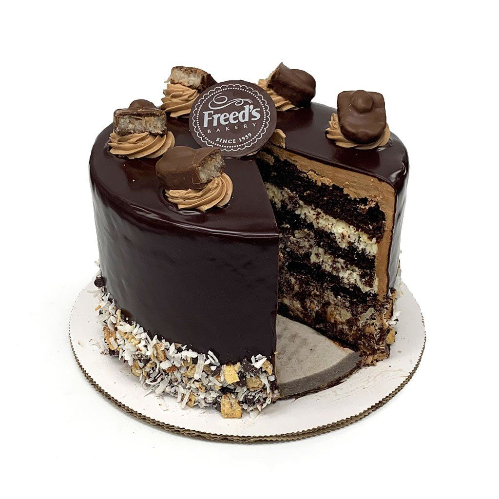 Kloees Almond Joy Cake Freeds Bakery