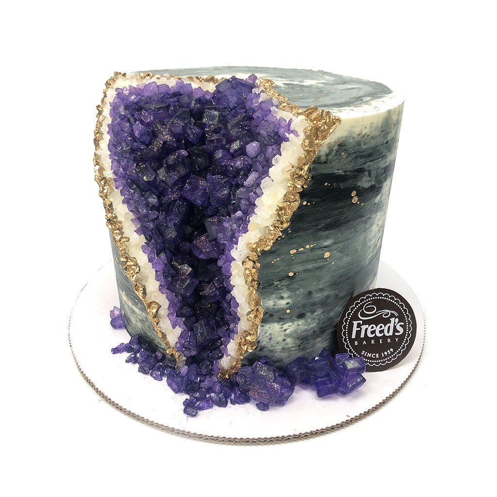 Amethyst Geode Cake Theme Cake Freed's Bakery