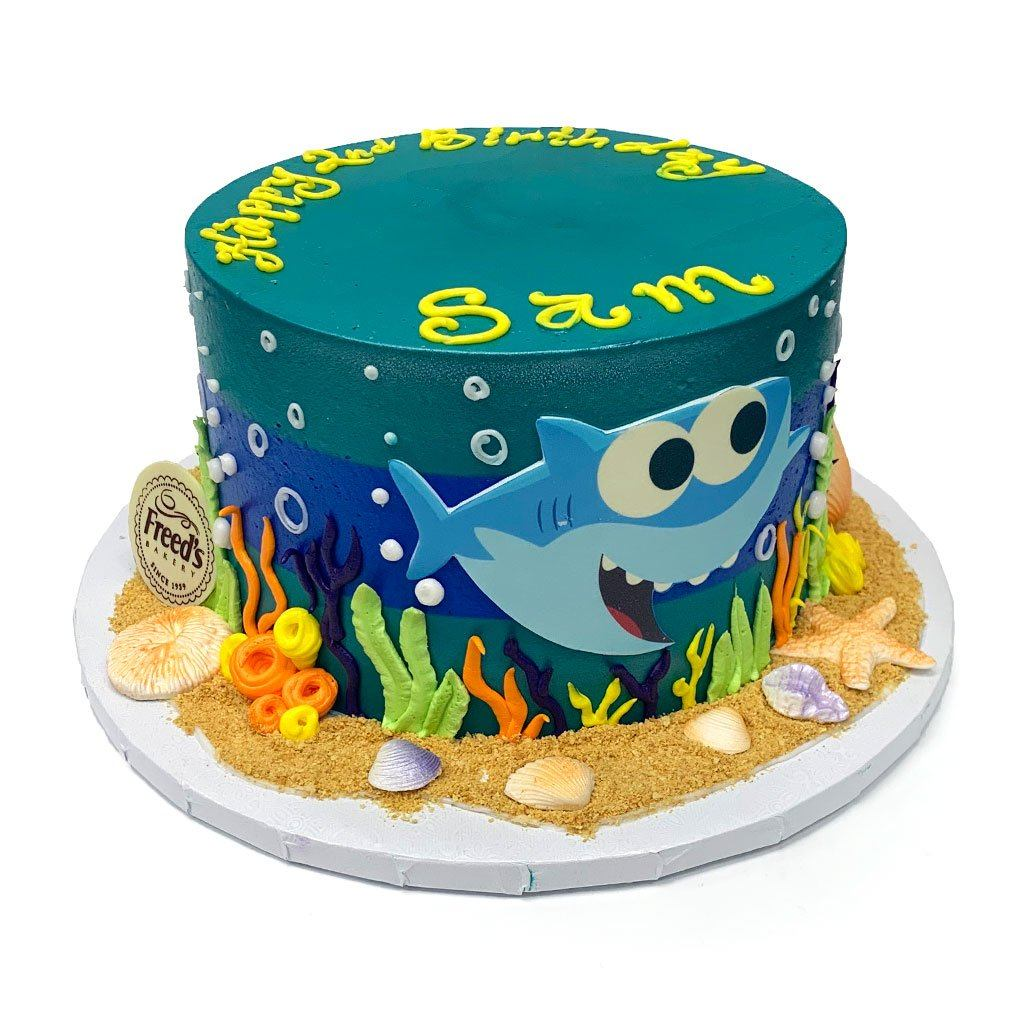 Baby Shark Theme Cake Freed's Bakery