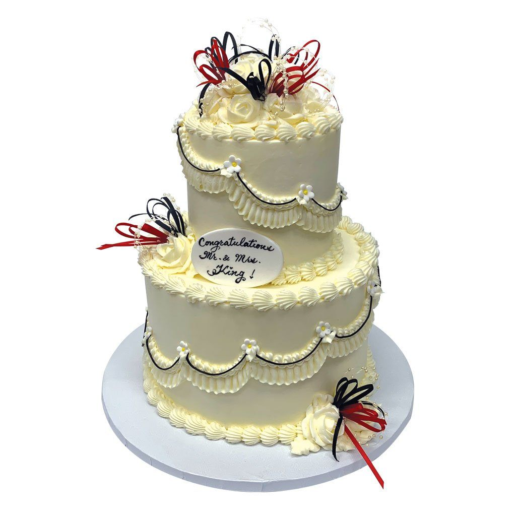 Black Tie Affair Wedding Cake Freed's Bakery