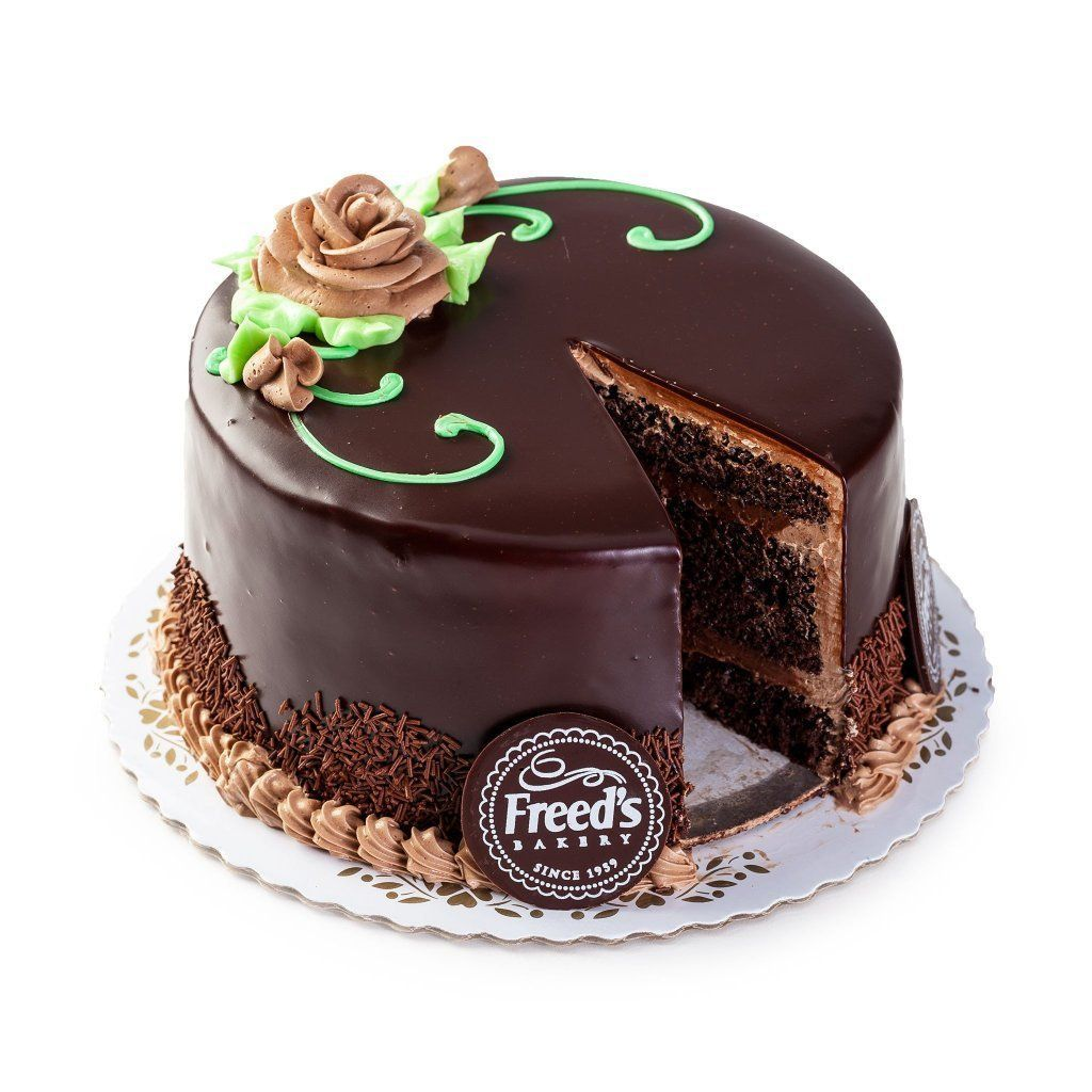 "Cozy-Sized Chocolate Fudge Blackout Cake Dessert Cake Freed's Bakery 7"" Round (Serves 8-10)"