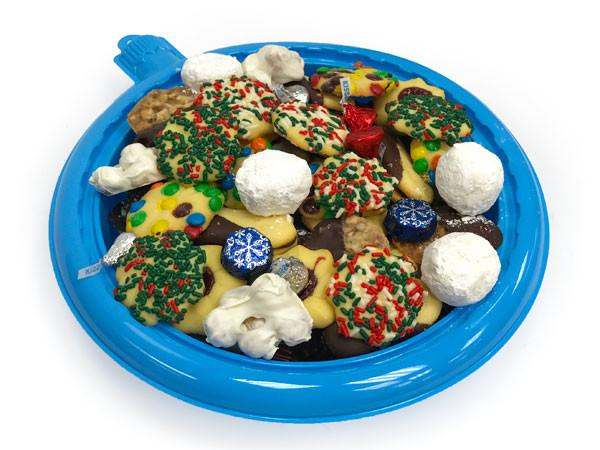 Blue Ornament Cookie Tray