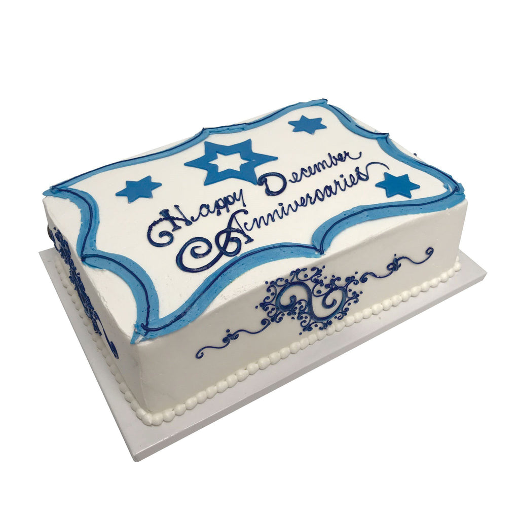 Blue Star Anniversary Theme Cake Freed's Bakery