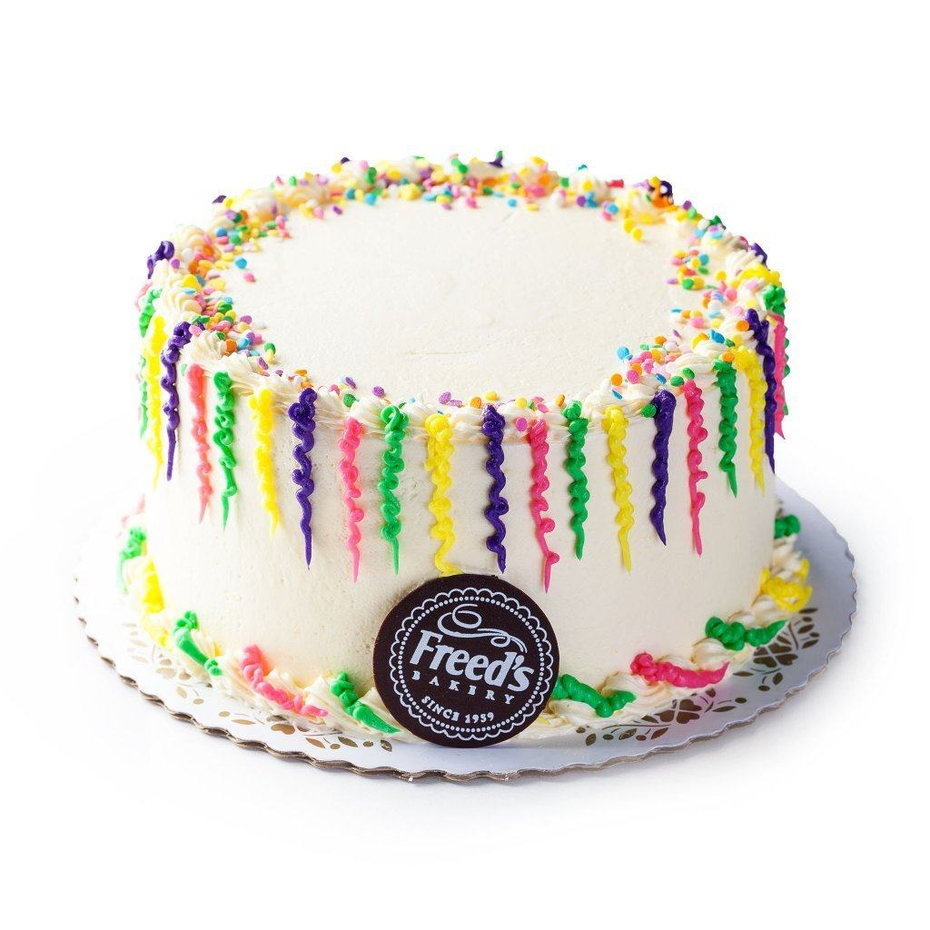 Bright Confetti (Nationwide Shipping) Cake Shipping Freed's Bakery