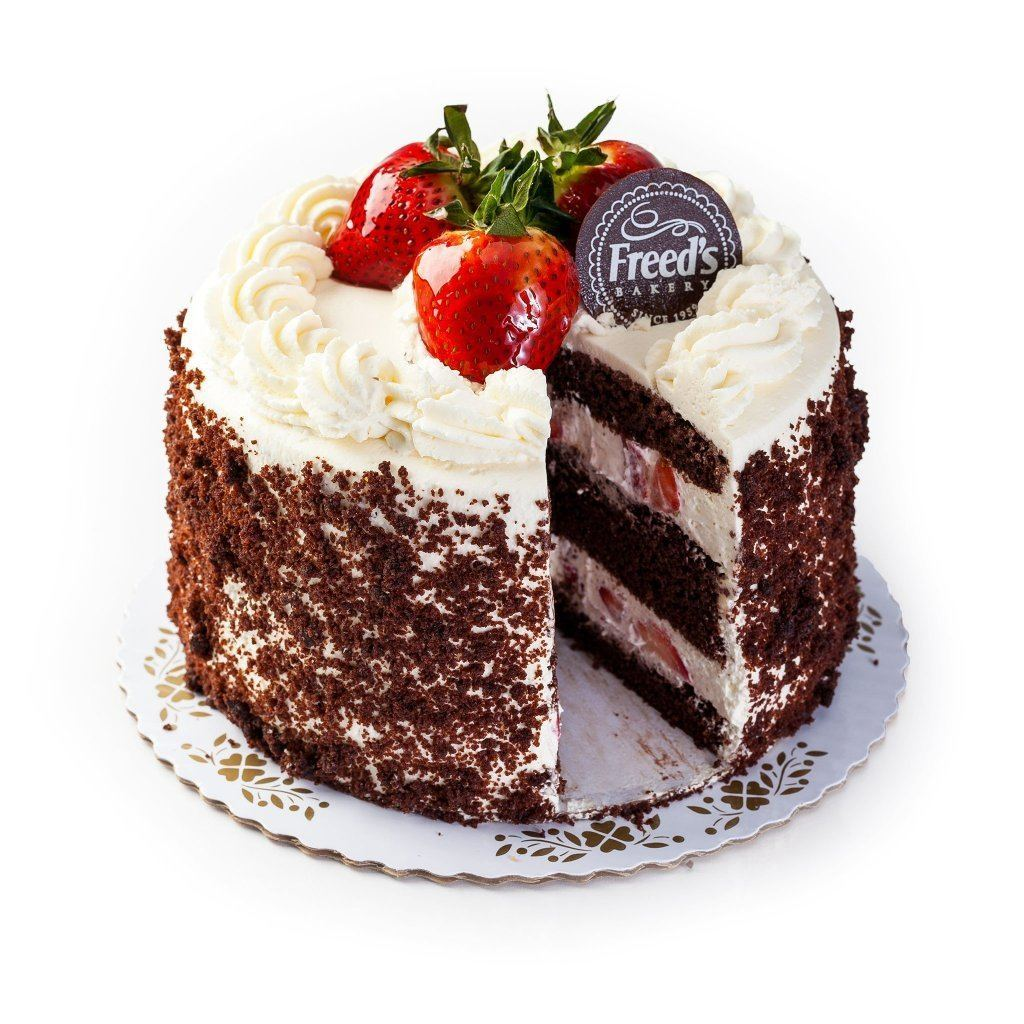 "Cozy-Sized Brown Derby Chocolate Shortcake Dessert Cake Freed's Bakery 7"" Round (Serves 8-10)"