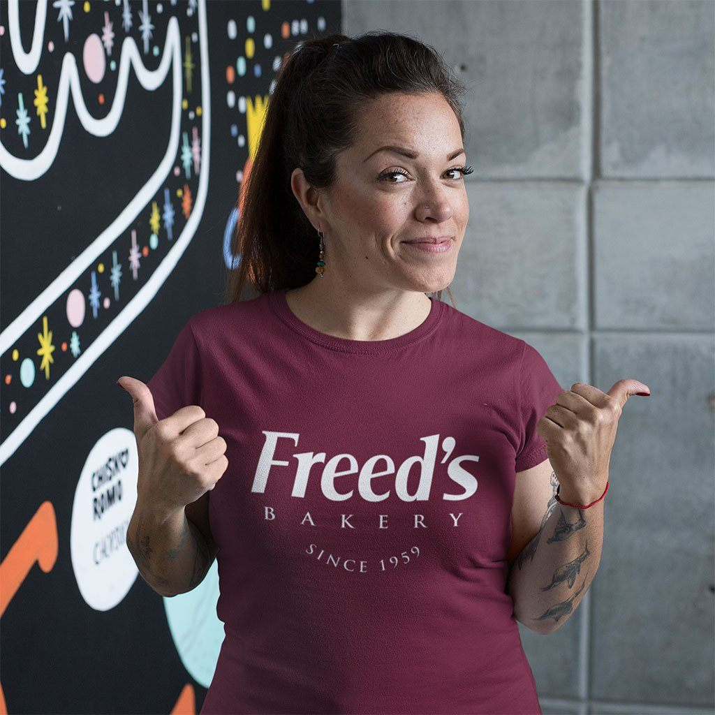 Freed's Signature Tee Shirts Freed's Bakery XS Heather Burgundy