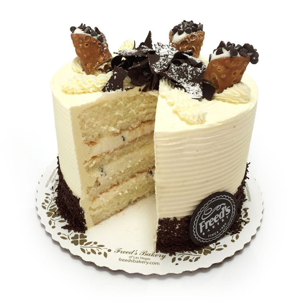 "Cozy-Sized Cannoli Cream Dessert Cake Dessert Cake Freed's Bakery 7"" Round (Serves 8-10)"