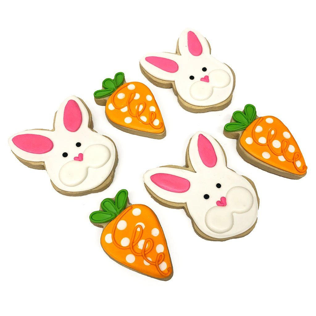 Bunny and Carrot Cookies Easter Freed's Bakery