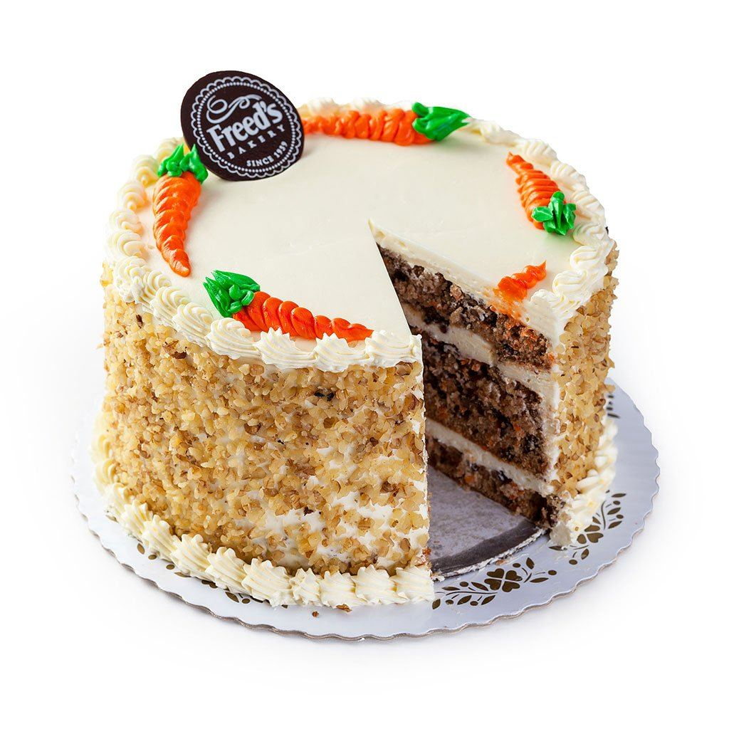 "Cozy-Sized Carrot Cake Dessert Cake Freed's Bakery 7"" Round (Serves 8-10)"