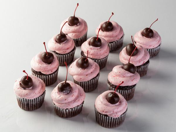 Chocolate Dipped Cherry Cupcake Cupcake Freed's Bakery