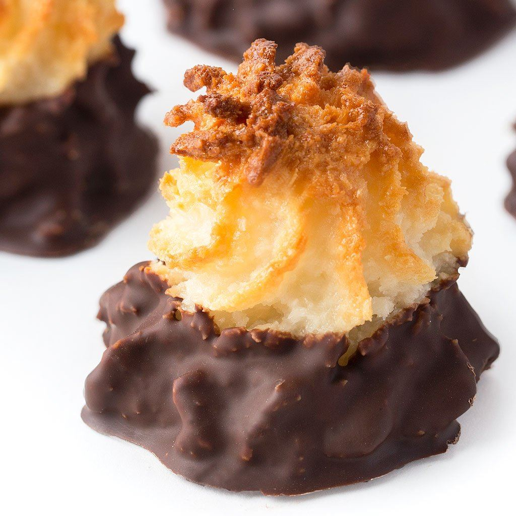 Chocolate Dipped Coconut Macaroon Cookie Freed's Bakery