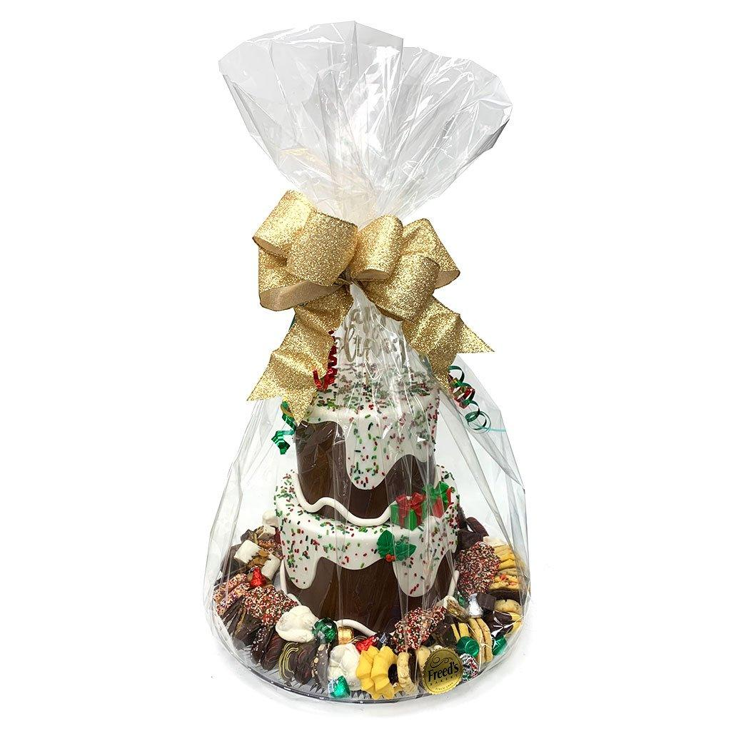 Snowy Gift and Cookie Platter Holiday Item Freed's Bakery