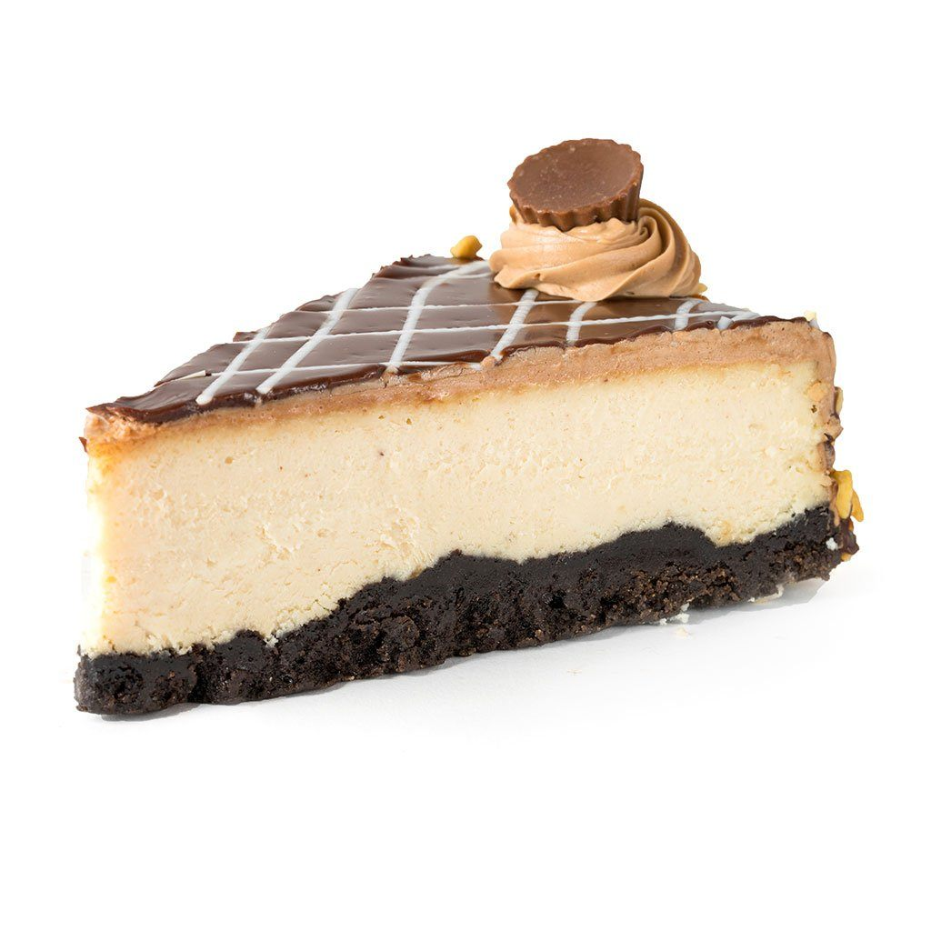 Chocolate Peanut Butter Cheesecake Dessert Cake Freed's Bakery Individual Slice