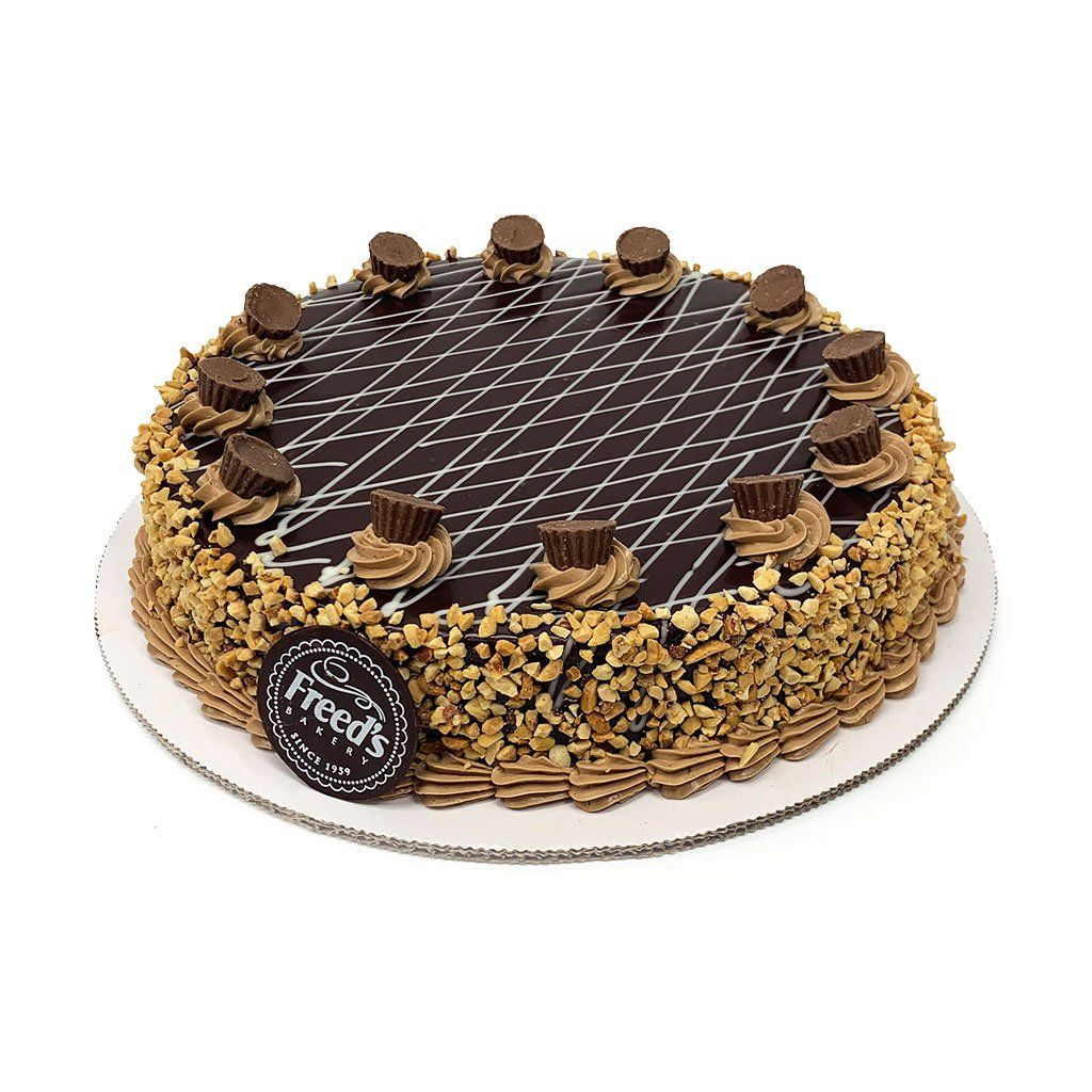 "Chocolate Peanut Butter Cheesecake Slice Cake Slice & Pastry Freed's Bakery 10"" Round (Serves 10-12)"