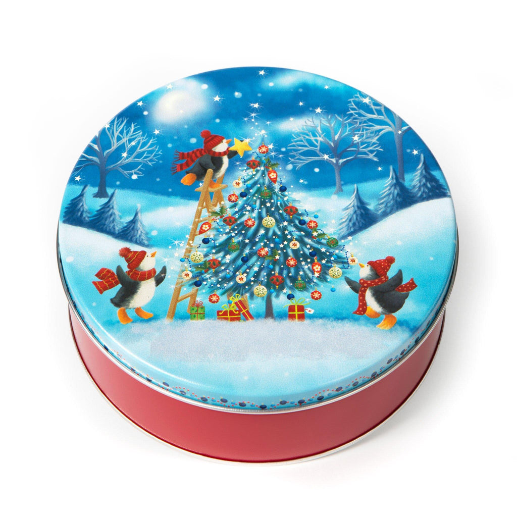 Christmas Tin Cookies.Christmas Tree Cookie Tin
