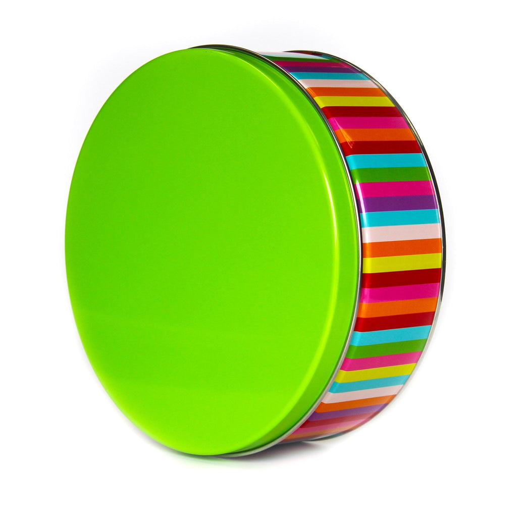 Rainbow Stripes Cookie Tin Cookie Tin Freed's Bakery