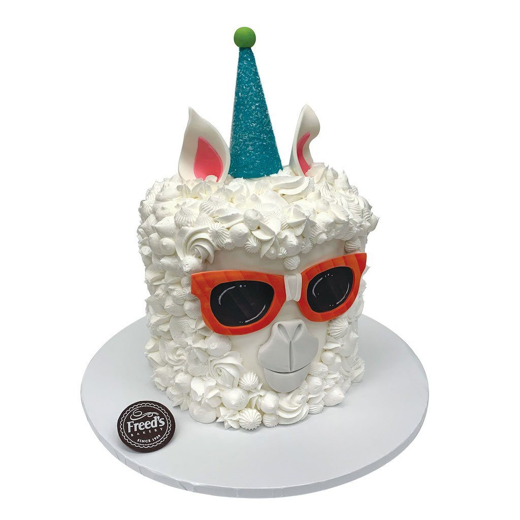 Party Llama Theme Cake Freed's Bakery