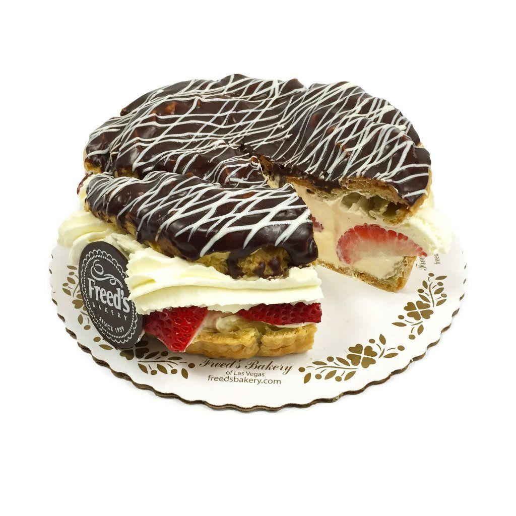 Strawberry & Grand Marnier Cream Puff Cake Cake Freed's Bakery