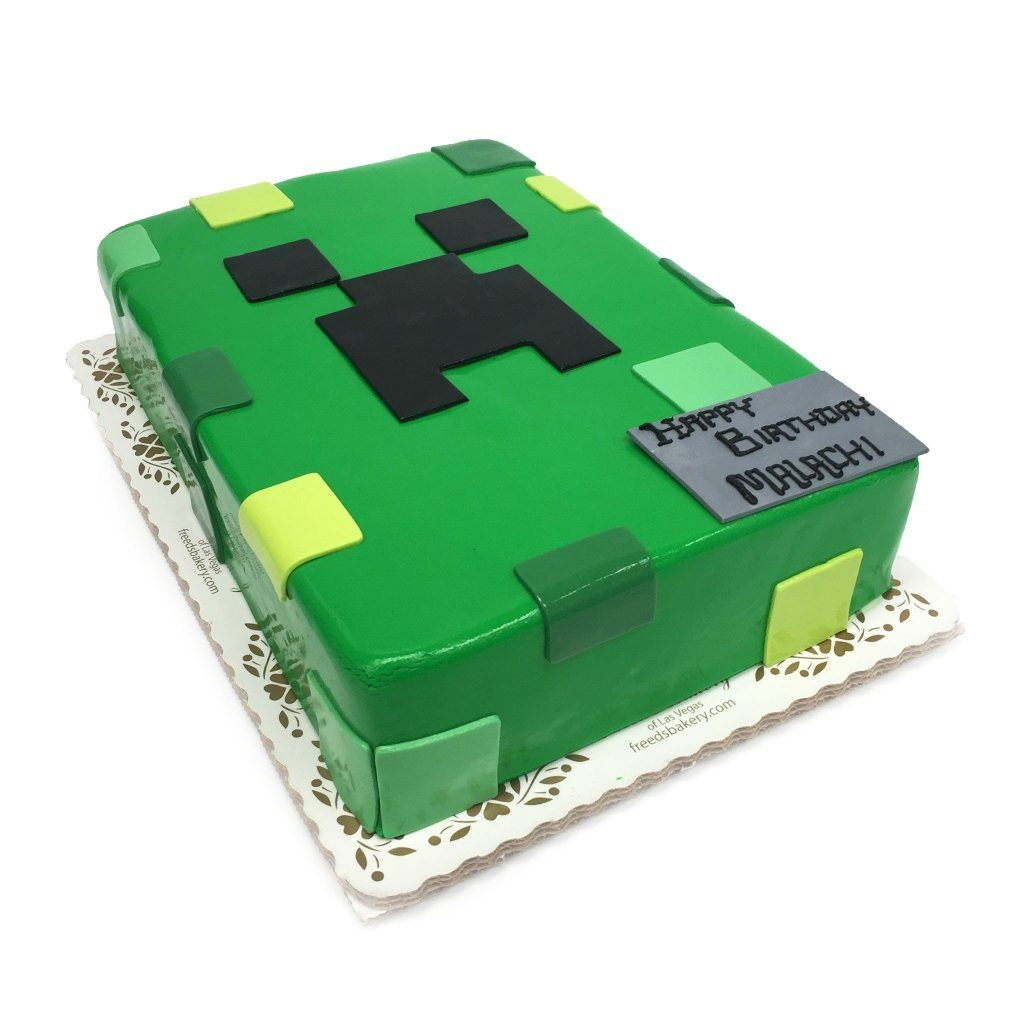 Creeper Theme Cake Freed's Bakery