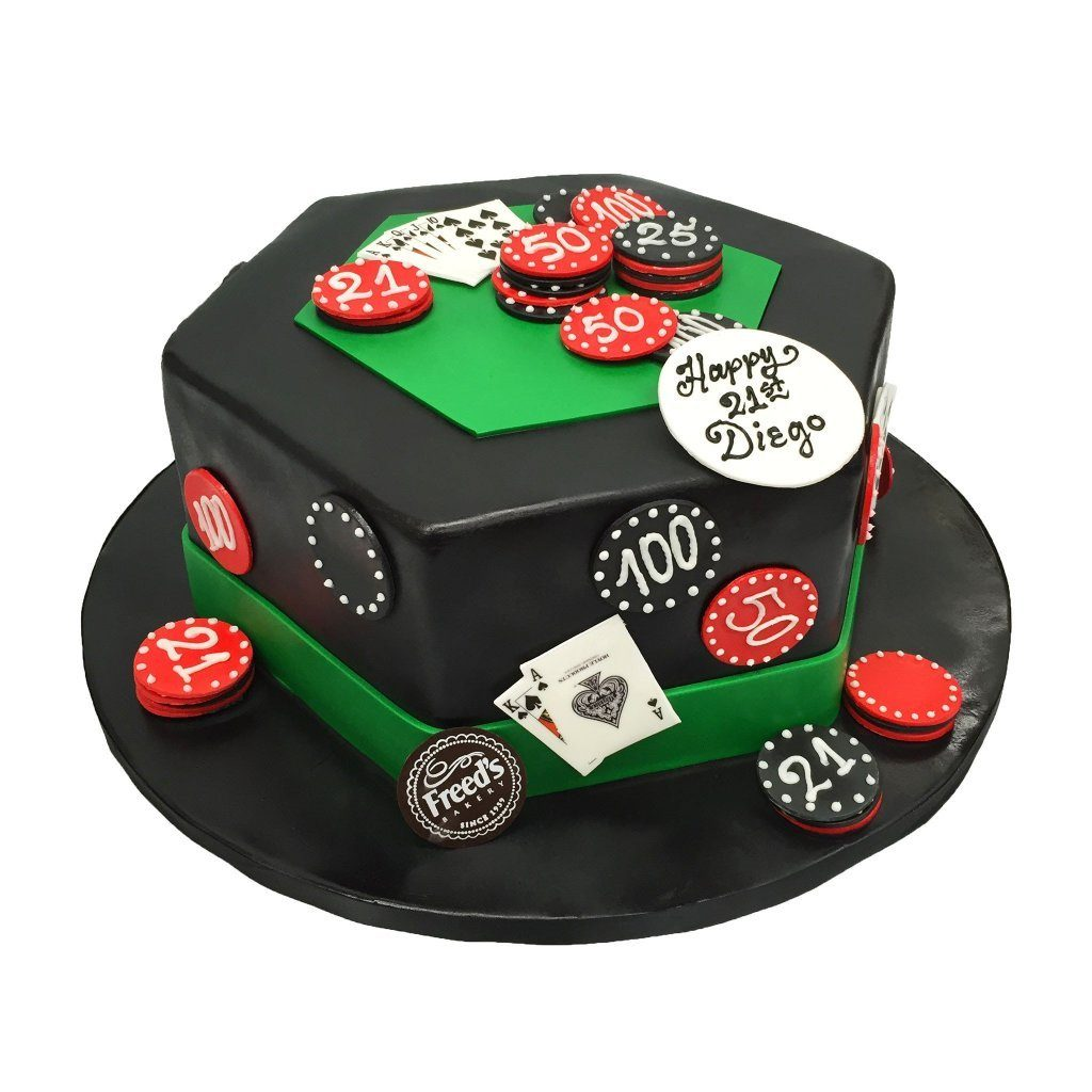 Deck of Vegas Theme Cake Freed's Bakery
