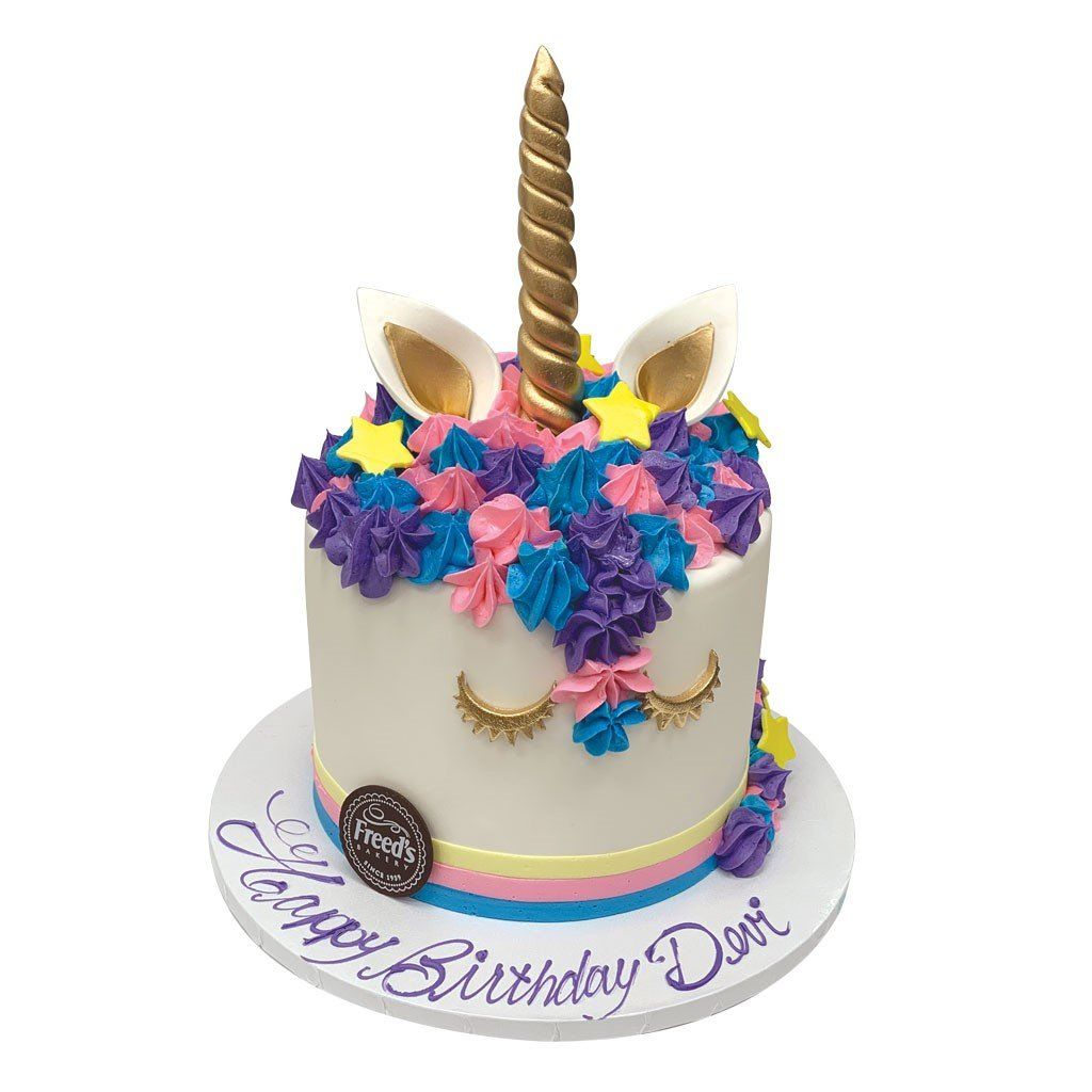 Diva Unicorn Theme Cake Freed's Bakery