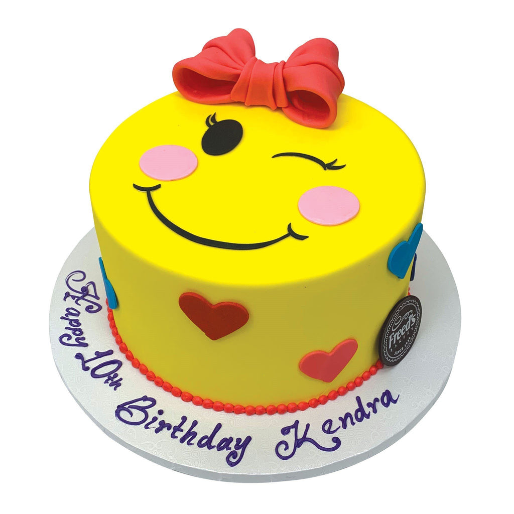 Emoji Love Theme Cake Freed's Bakery