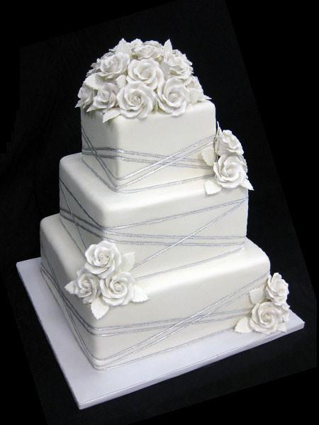 Entwined Silver Wedding Cake Freed's Bakery