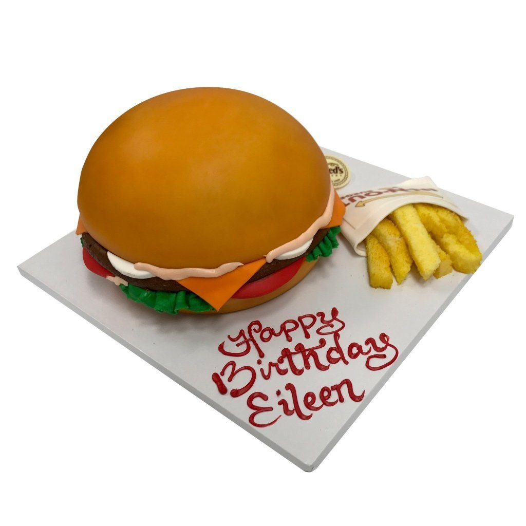 Fast Food Birthday Theme Cake Freed's Bakery