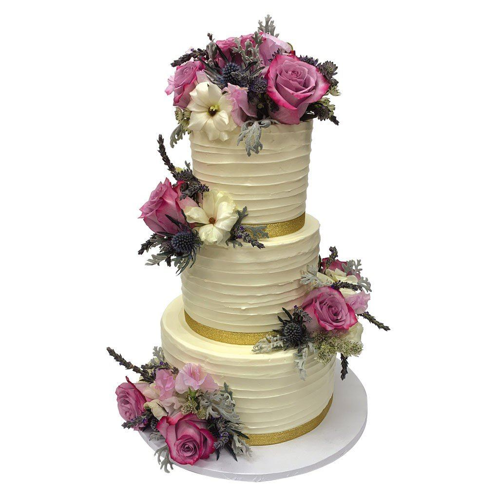 Florally Ever After Wedding Cake Freed's Bakery