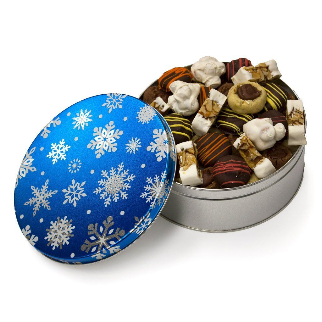 Snow Flurries Cookie Tin