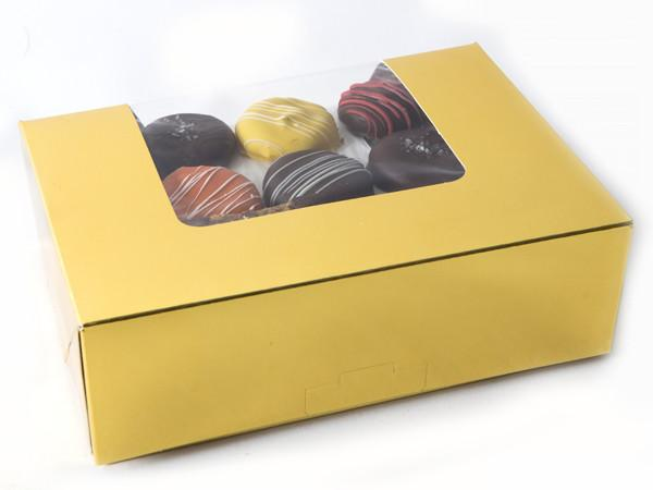Gold Holiday Box Cookie Assortment