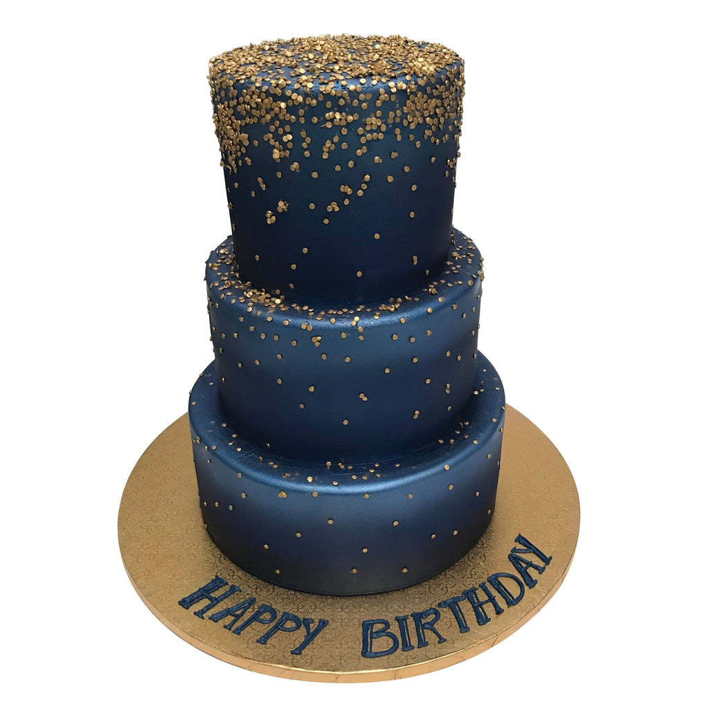 Golden Midnight Theme Cake Freeds Bakery