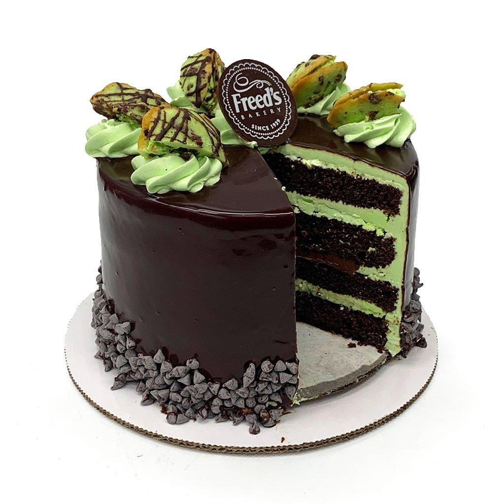 "Elaine's Mint Chocolate ""Grasshopper"" Dessert Cake Dessert Cake Freed's Bakery"