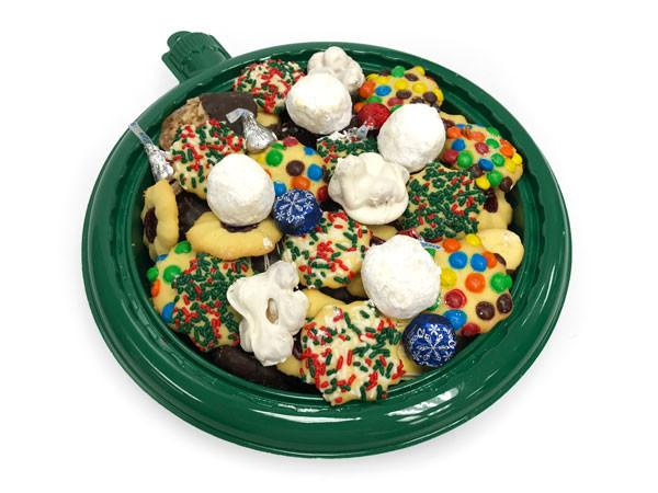 Green Ornament Cookie Tray