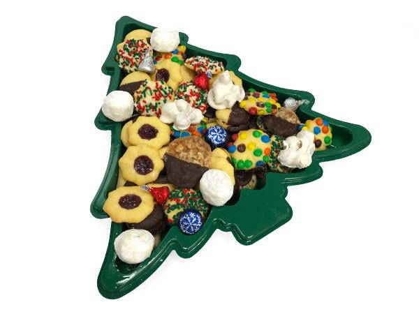 Green Tree Cookie Tray