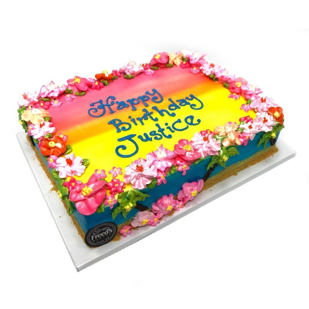 Hawaiian Sunrise Theme Cake Freed's Bakery