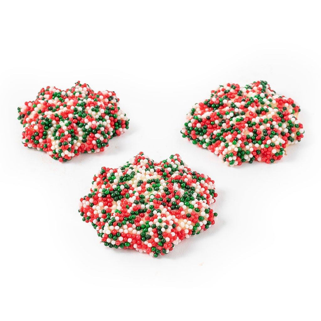 Christmas Nonpareils Butter Cookies Cookie Freed's Bakery