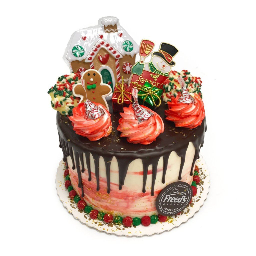 Holiday Ganache Theme Cake Freed's Bakery