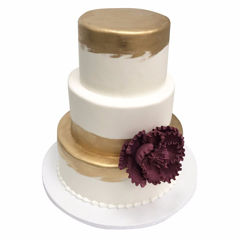 Brushed Gold Wedding Cake Freed's Bakery
