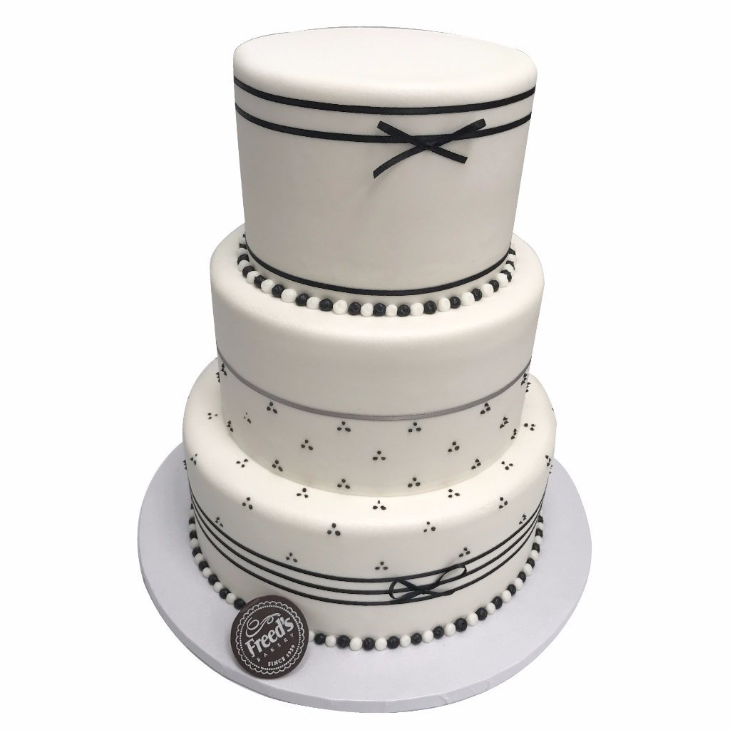 Black and White Elegance Wedding Cake Freed's Bakery