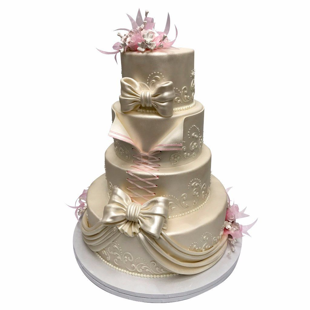Blushing Affair Wedding Cake Freed's Bakery