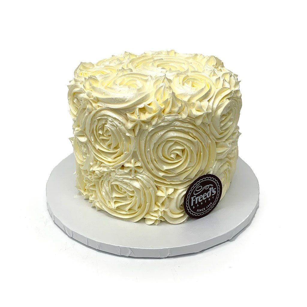Icing Swirls Wedding Cake Wedding Cake Freed's Bakery