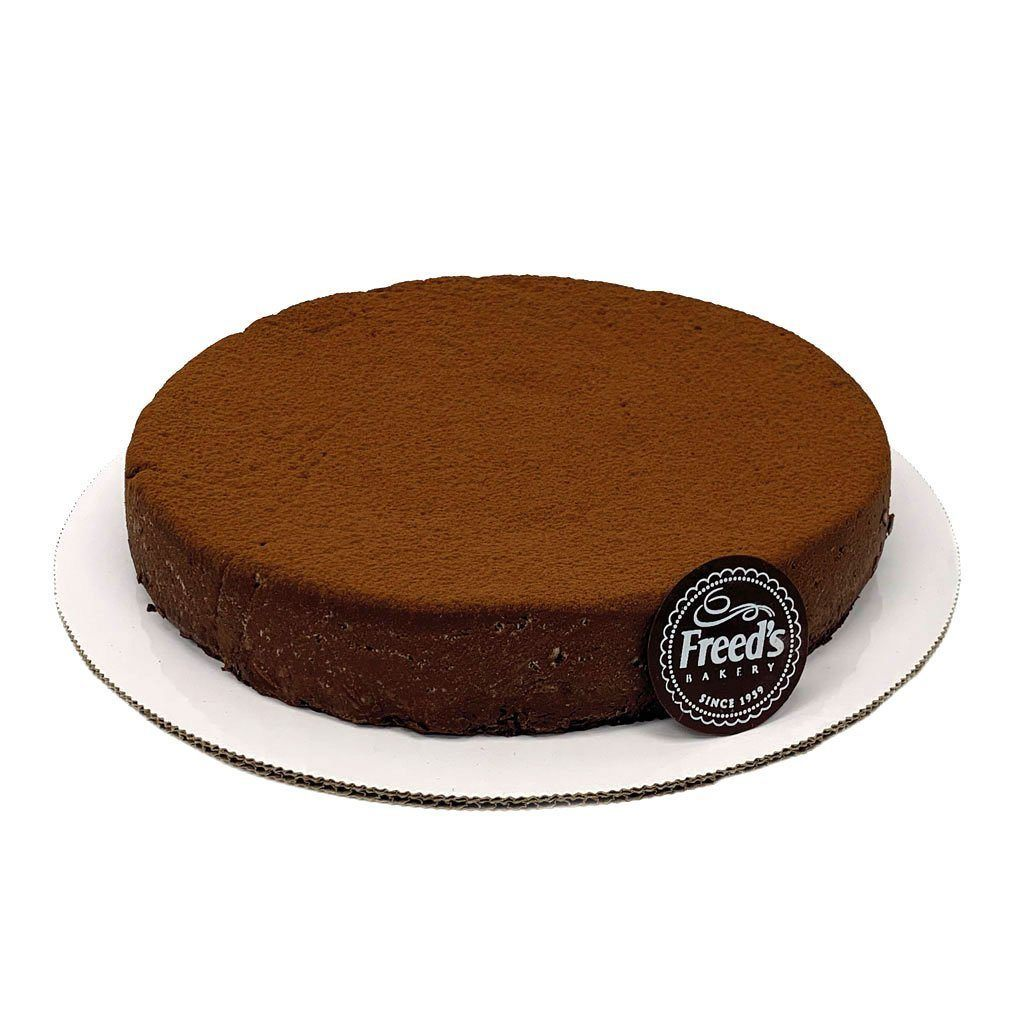 "Low-Carb Keto 10"" Chocolate Flourless Torte Cake Slice & Pastry Freed's Bakery 10"" Round (Serves 10-15)"