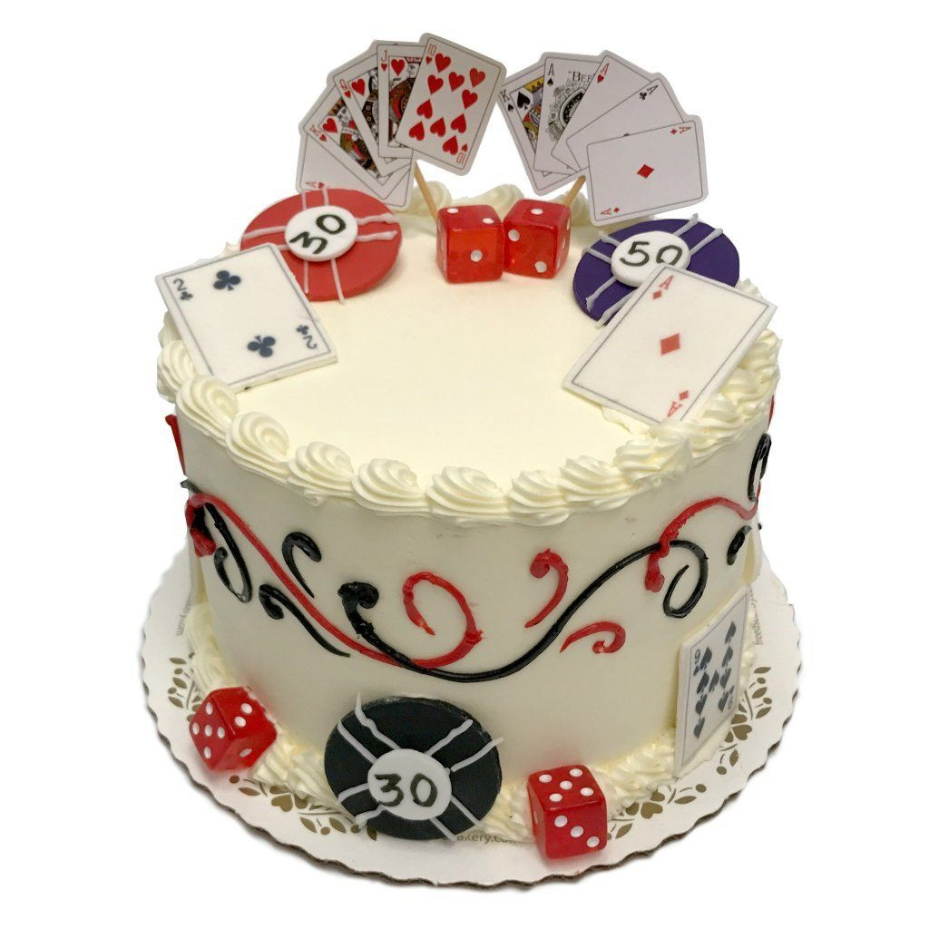 Las Vegas Luck Theme Cake Freed's Bakery